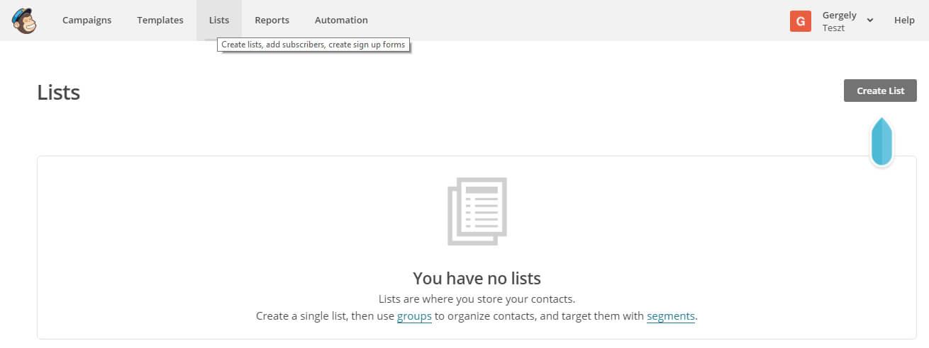 MailChimp Alapok II. - Így tudod kialakítani az adatbázisodat